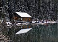 "Banff Canada ""Cabin by Lake"" (8168777960).jpg"