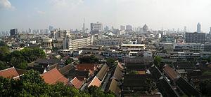 Wat Saket - Panoramic view from the Golden Mount