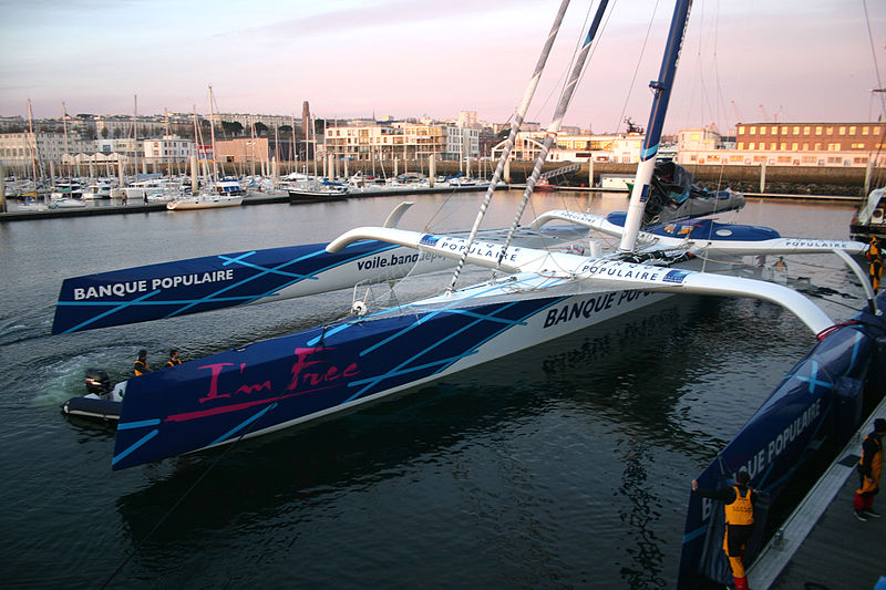 Transatlantic sailing record