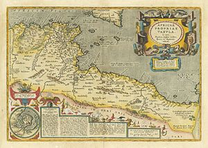 Battle of the Barbary Coast - Map of Barbary Coast in 1590