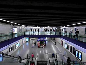 Universitat (Barcelona Metro) - The main hall of the station