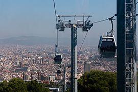 Barcelona August 2014 - Seilbahn de Montjuic 001