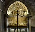 Barcelona Cathedral Interior - Santa Llucia chapel - Sepulcher of Bishop Arnau de Gurb.jpg