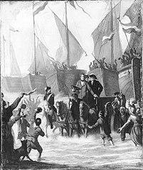 Anno 1813. Terugkeer van de prins van Oranje te Scheveningen