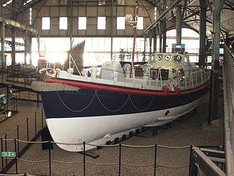 Holyhead Lifeboat Station - Holyhead Lifeboat 1950 until 1980 Barnett Class ON884 St Cybi (CS No 9) at Chatham