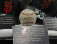 Bondss 756th Home Run Ball In The Hall Of Fame
