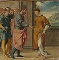 Bartholomäus Bruyn d. Ä. - Cyriakus-Folge, Der hl. Cyriakus wird vom Perserkönig begrüßt - WAF 107 D - Bavarian State Painting Collections.jpg