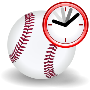 "Baseball with clock to represent a ""curre..."