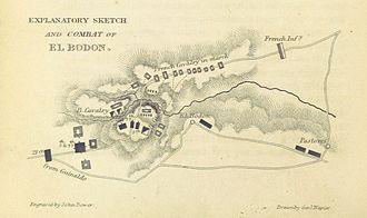 Battle of El Bodón - A map of the battle