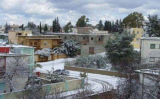 Geography of Libya - Snow in Bayda, Libya's third largest city