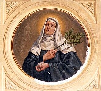 Veronica of Milan - Fresco by Luigi Migliavacca, Church of Turago Bordone