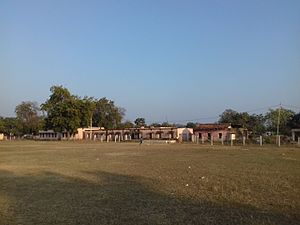 Bhandarpuri - The playground behind Bhandarpuri UGHS School