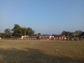 Bhandarpuri - The playground behind Bhandarpuri UGHS School