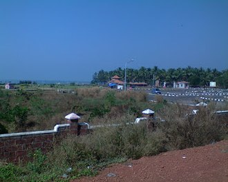 Bekal Fort railway station - A view of Bekal Beach Park from the station