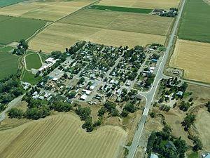Belfry, Montana - Aerial view of Belfry
