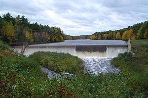 Madbury, New Hampshire - Dam at the Bellamy Reservoir