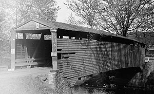 Bells Mills Covered Bridge - Bells Mills Bridge, 1939
