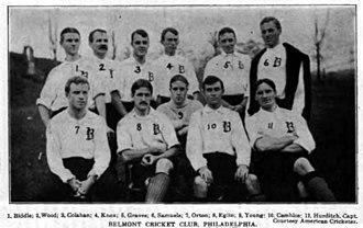 Belmont Cricket Club - The Belmont team of 1905.