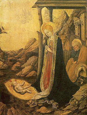 Benedetto Bonfigli - Adoration of the Child, Benedetto Bonfigli, Berenson foundation Settignano, Florence