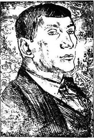 Benedikt Livshits - Portrait of Benedikt Livshits by David Burliuk