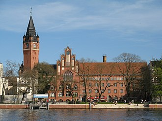 Köpenick - Town hall on Dahme river