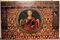 Bernardo di stefano rosselli, s. caterina d'alessandria, ante 1499, da s. prospero a cambiano 01 stemmi cambi e capponi.JPG