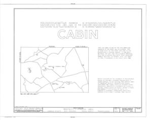 Bertolet-Herbein Cabin, Oley Line (Oley Township), Oley Line, Berks County, PA HABS PA,6-LIMKI.V,5- (sheet 1 of 2).png