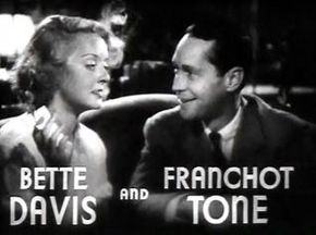 Description de l'image  Bette Davis and Franchot Tone in Dangerous trailer.JPG.