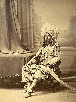 Punjabi clothing - Image: Bharatpore maharajah