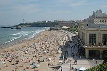 La granda strando de Biarritz.