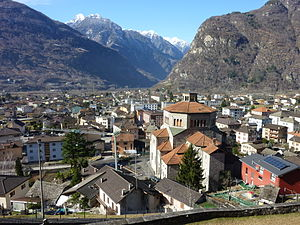 Biasca - View of Biasca and the surrounding valley