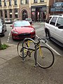 Bicycle support with Tesla S sedan in Bellingham (13654854713).jpg