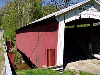 Big Rocky Fork Covered Bridge place in Indiana listed on National Register of Historic Places
