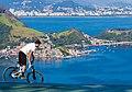 Bike rider in North Ramp of city park Niteroi.jpg