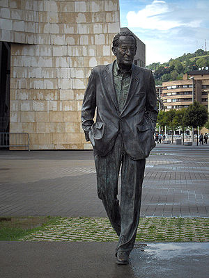 Ramón Rubial - Statue outside the Guggenheim museum in Bilbao