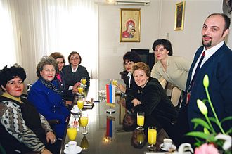Biljana Plavšić - Biljana Plavšić and other Bosnian Serb women leaders in Banja Luka.