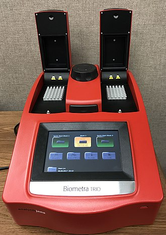 Thermal cycler - Biometra TRIO Thermal Cycler - Touchscreen interface.
