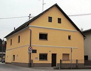 Dobrova, Dobrova–Polhov Gradec - Image: Birth house of Emil Adamic Dobrova Slovenia