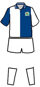 Shirts of Blackburn Rovers