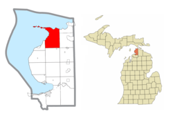 Location within Emmet County