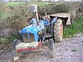 Blue Tractor at Hayne Barton - geograph.org.uk - 340881.jpg