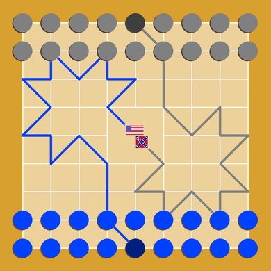 blue and gray board game wikipedia