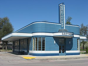 Blytheville, Arkansas - The Greyhound Bus Station is one of eight sites in Blytheville listed on the National Register of Historic Places
