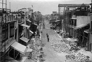 Xiguan - Baohua Road in Xihuan during the widening of its roads in the 1920s.