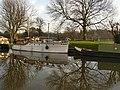Boat and reflections near Cranfleet - geograph.org.uk - 1090630.jpg