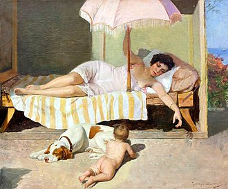 Nikolai Bodarevsky - Image: Bodarevsky nicholas kornilevich 1850 1921 sunbathing