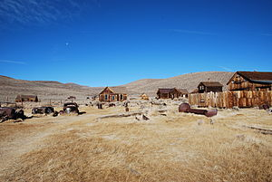 English: In the ghost town of , USA