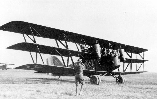 Boeing GA-1 on ground