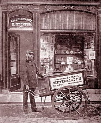 Books in the Netherlands - Stumpel bookseller in Hoorn, circa 1910