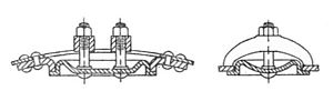 Glossary of boiler terms - Image: Boiler manhole (Bentley, Sketches of Engine and Machine Details)